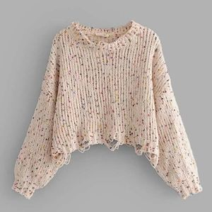 Confetti cropped sweater